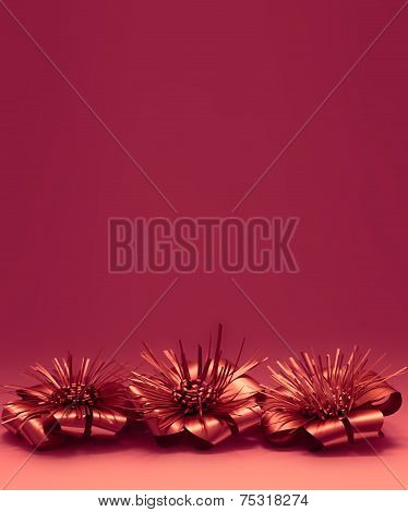 Red Christmas Deocration Background