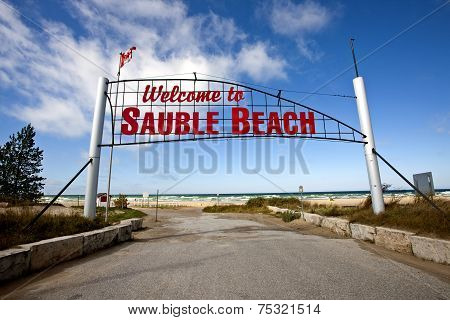 Sauble Beach Sign