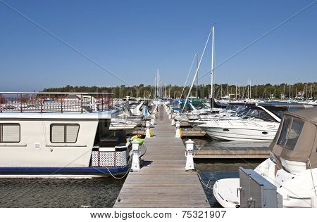 Marina On Lake Huron