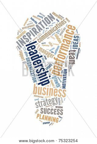 creative innovate business word cloud