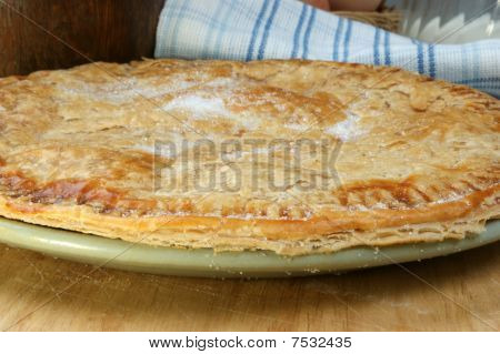 Fresh Home Made Apple Pie On A Plate