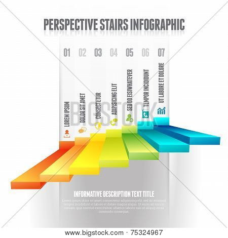 Perspective Stairs Infographic