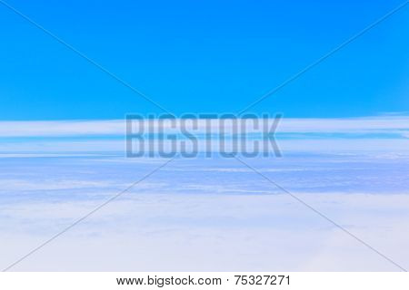 Sea of clouds, aerial photography