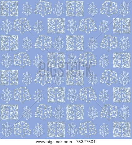 Wallpaper with winter tree. Raster copy