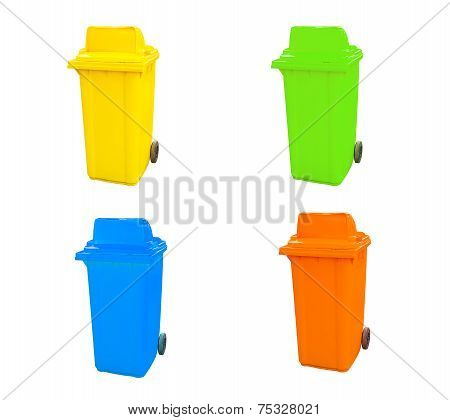 Set Of Various Empty Bins