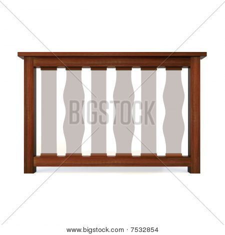 Wooden Railing With Glass Balusters