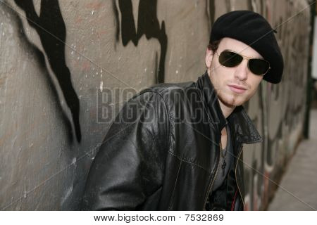 Rocker Rock Star Young Man Sunglasses