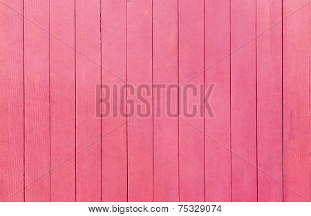 Old Red Wood Wall Background