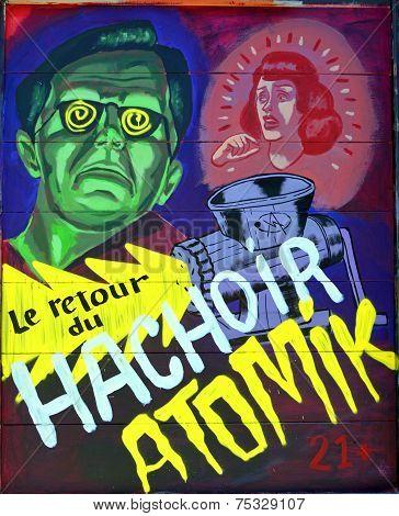 Street art Montreal Frankenstein