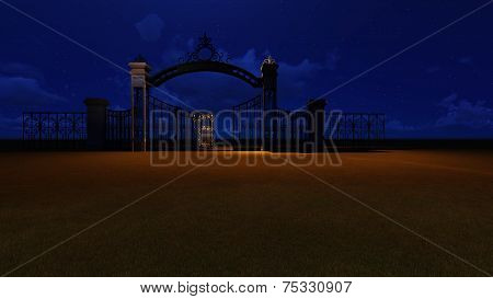 Gate To Heaven By Night