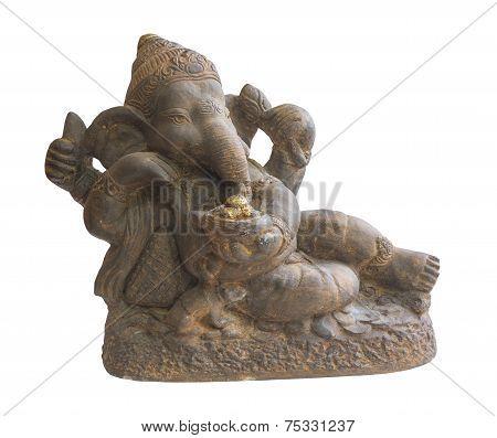 Ganesha Isolated White Background