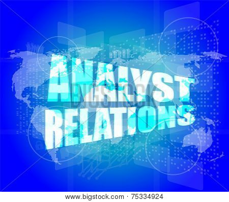 Analyst Relations Words On Digital Screen