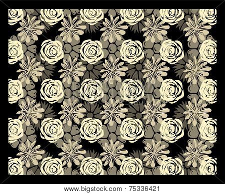 Multi-level floral stereogram
