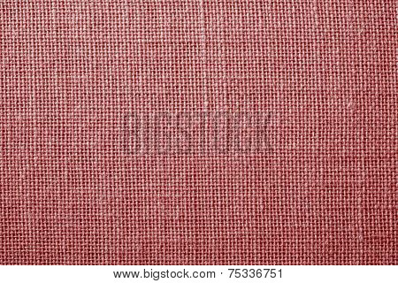 Fabric With Crisscross Fibers Of Light Red Color