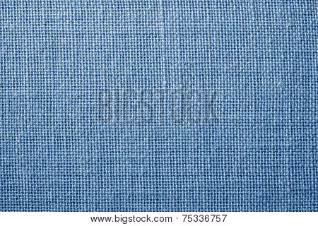 Fabric With Crisscross Fibers Of Light Blue Color