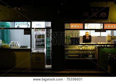 Street Vendor In Beijing
