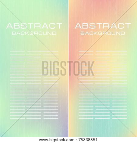Abstract soft pastel banners set. Purple, green, blue, yellow  and pink pastel colorful background. Vector banners for you design.