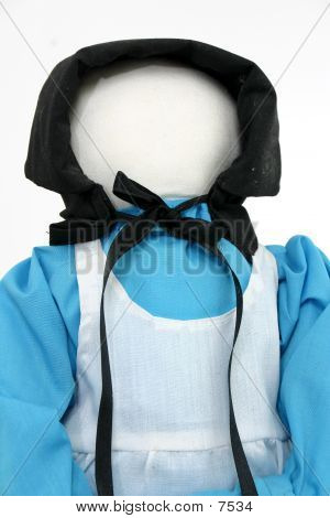 Amish Doll In Blue