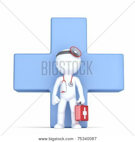 3D Doctor. Isolated, Contains Clipping Path.