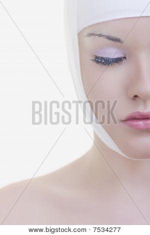 Cirugía de la cara de mujer