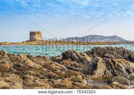 Watchtower Pelosa At The Northwest Of Sardinia