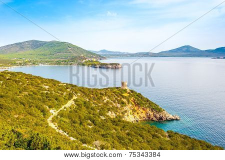 Nature Caccia Cape And Watchtower Punta Del Bollo In Sardinia