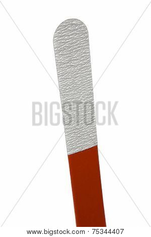 Multiple Use Plastic Nail File Isolated On White