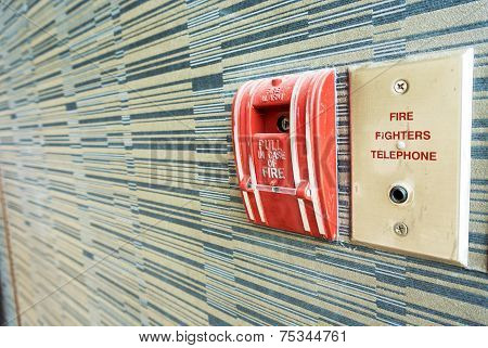 Fire Alarm near door fire