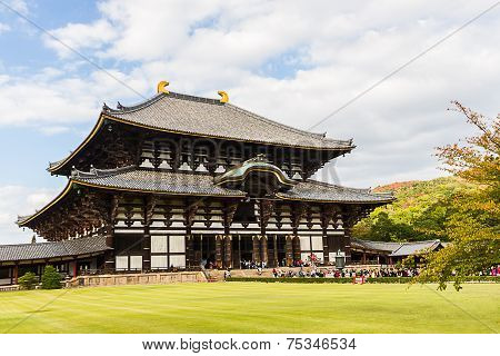 Todai-ji Temple In Nara, Japan Temple.
