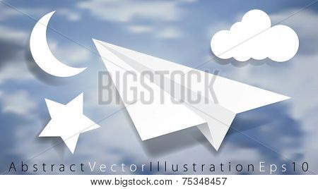vector abstract illustration for business card, annual report or web site