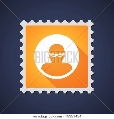 Mail Stamp With A Thief