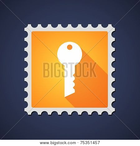 Mail Stamp With A Key