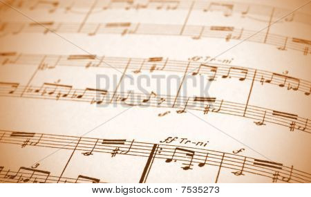 Written Music Sheet