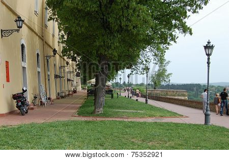 Promenade On The Petrovaradin Fortress