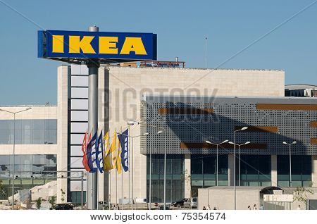 Ankara, Turkey - June 17, 2012:IKEA billboard in front of their own appliances retailer.
