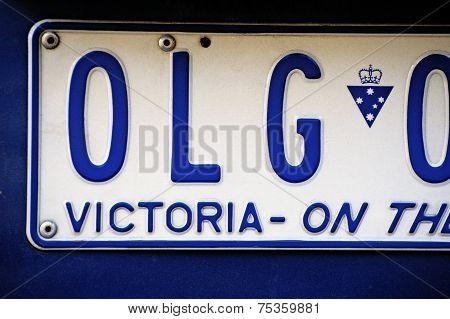 Detail Of An Australian License Plate