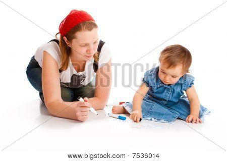 Mamá y su escritura de bebé