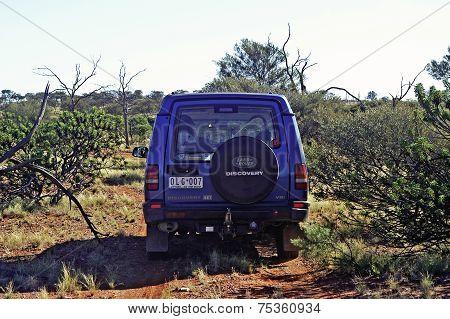 An All-terrain Vehicle In The Australian Bush