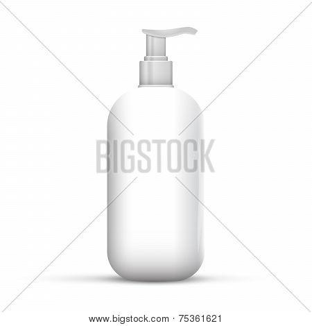 Plastic White Bottle