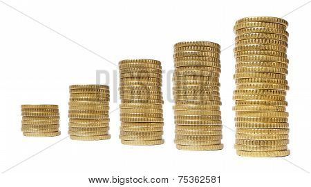 Stacks Chart Coins Isolated
