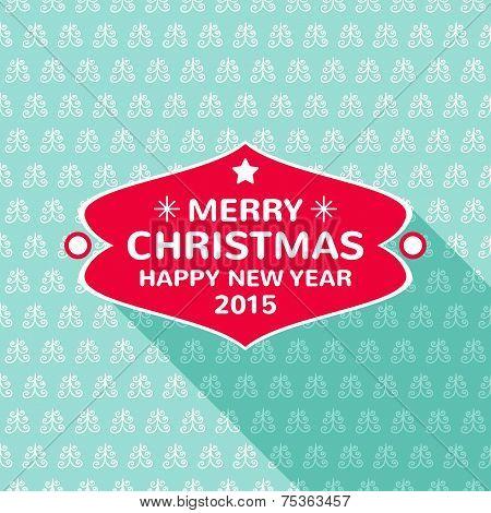 Merry Christmas frame template, vector