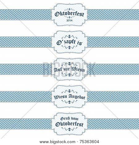 5 Different Oktoberfest 2014 Banners
