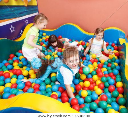 Kids In Colorful Balls