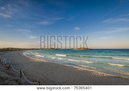 Windy morning at beach