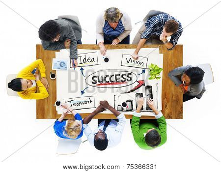 Group of People Discussing about Successful Business