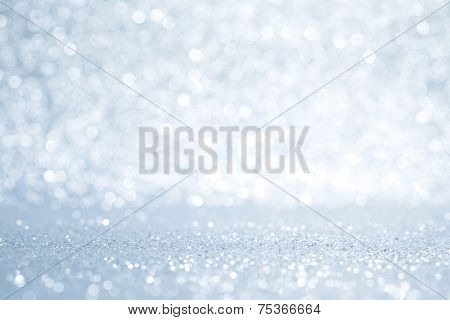Glittery shiny lights silver abstract Christmas background