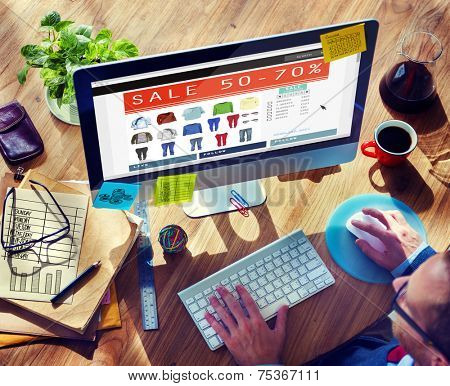 Digital Online Marketing Commerce Sale Concept
