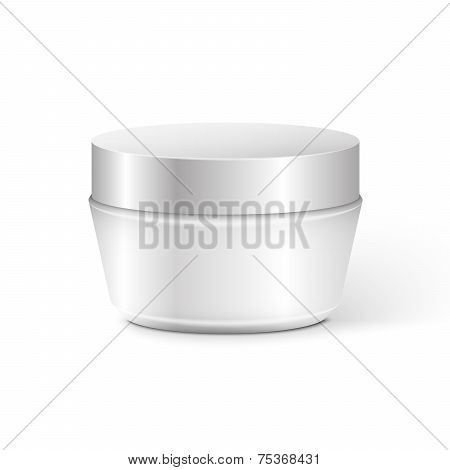 Cosmetic Container for Cream