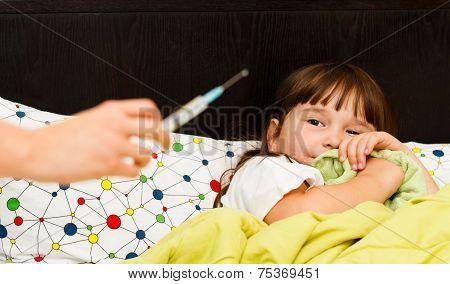 Child Afraid Of Needle