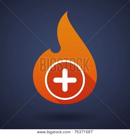 Flame Icon With A Sum Sign